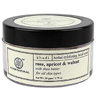 Khadi Rose, Apricot & Walnut Cream Scrub - 50gm