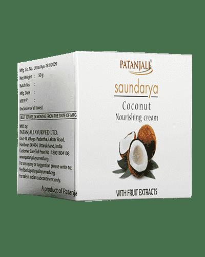 Patanjali Saundarya Coconut Nourishing Cream - 50gm