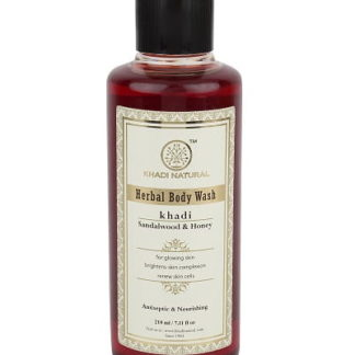 Khadi Herbal Sandalwood & Honey Body Wash - 210ml