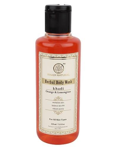 Khadi Orange and Lemongrass Body Wash - 210ml
