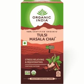 Organic India Tulsi Masala Chai 25 Tea Bags