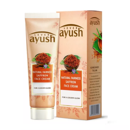 Ayush Lever Natural Fairness Saffron Face Cream - 50gm