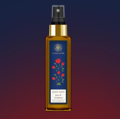 Forest Essentials Body Mist Rose & Cardamom
